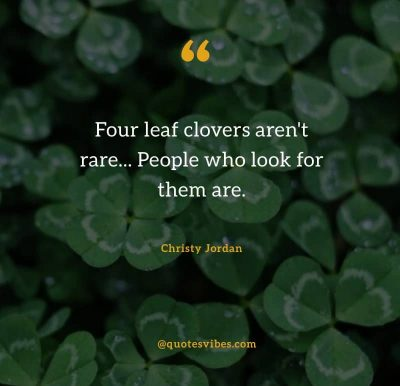 Four Leaf Clovers Quotes Images
