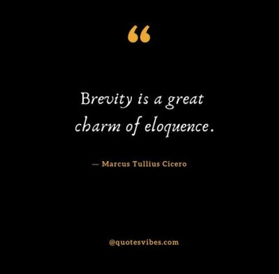 Famous Quotes On Brevity