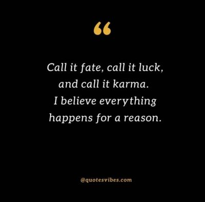 Fate And Karma Quotes