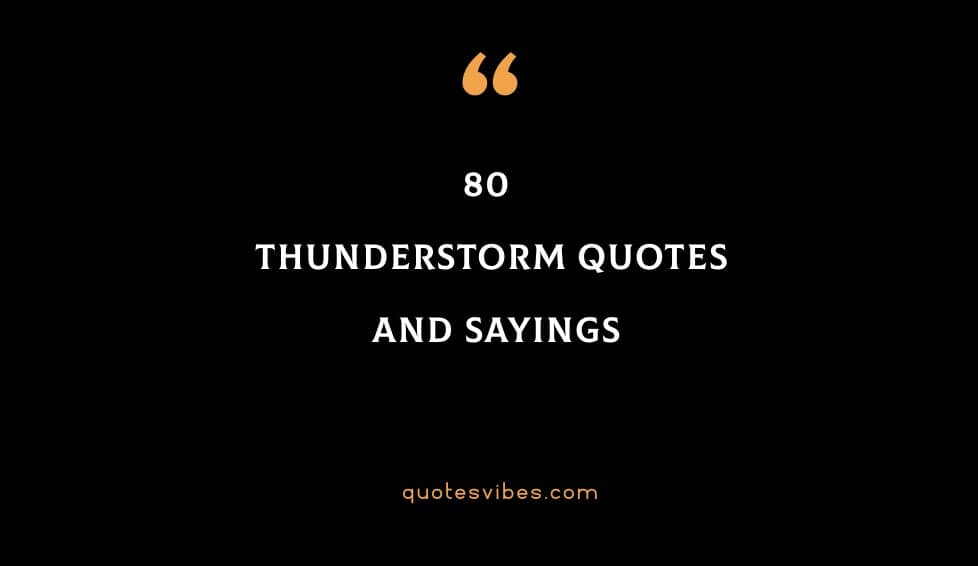 80 Thunderstorm Quotes And Sayings