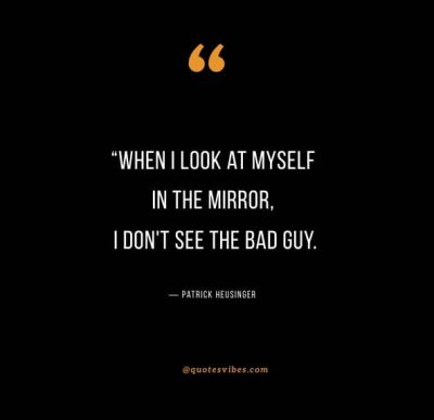 Can You Look At Yourself In The Mirror Quote
