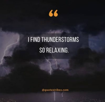 Thunderstorm Quotes