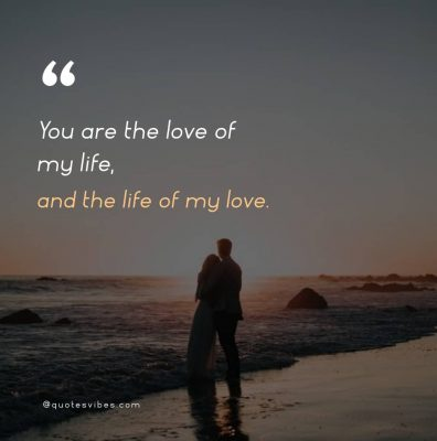 You Are The Love Of My Life Quotes